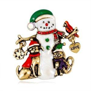 Jewelry - Snowman Brooch